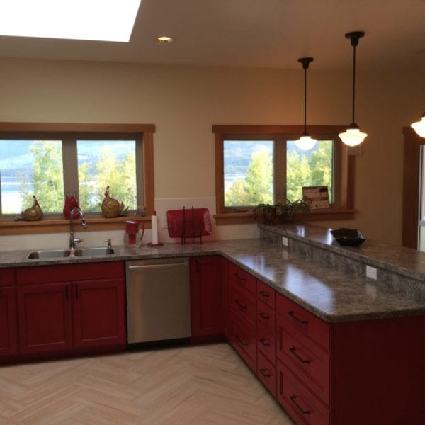 vCustom kitchen Bridgewater Innovative Builders whitefish kalispell montana