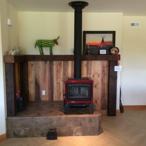 Fireplace Bridgewater Innovative Builders whitefish kalispell montana