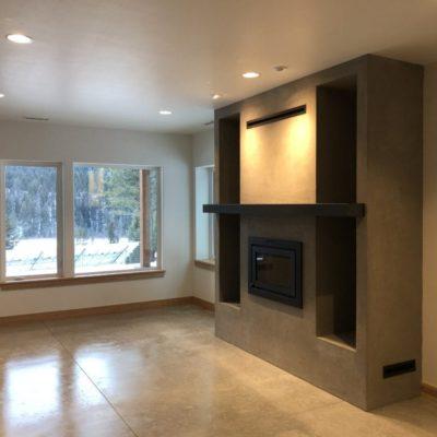 custom fireplace concrete floor Bridgewater Innovative Builders
