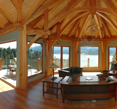 Custom Timber Frame Home Whitefish MT