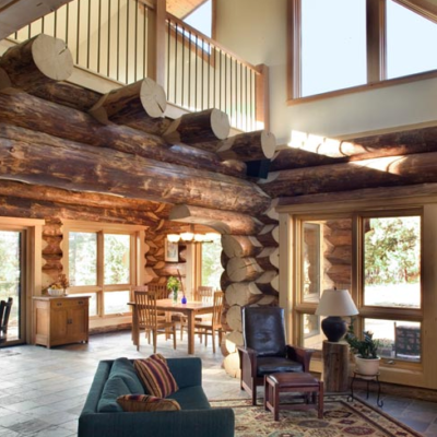 Custom Log Cabin Whitefish